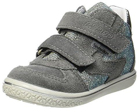 Ricosta Mädchen Kaya Hohe Sneaker, Grau (Patina/Himmel), 24 EU