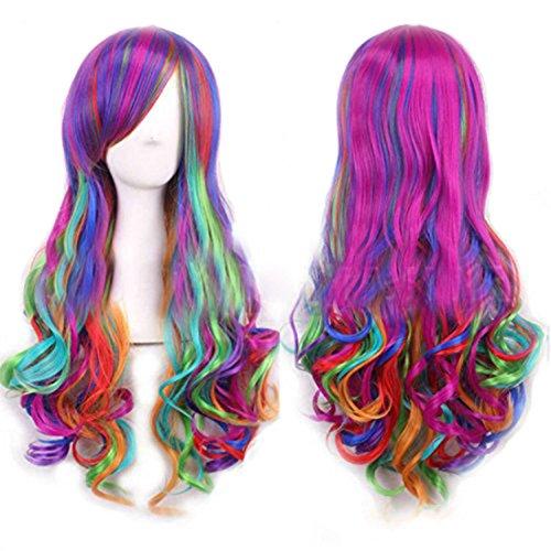 Kostüm Perücken Frauen - DNFC Perücke Damen Langhaarperücke mit Haarnetz