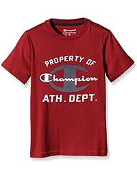 Champion Niño,  Camiseta cuello caja, rojo,   L,   304299_F16