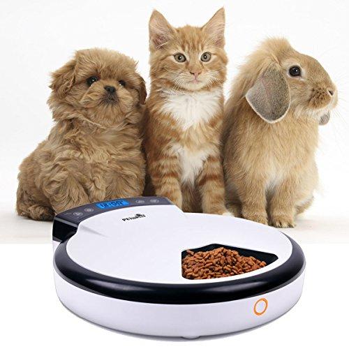 TD Design Automatisierte Futterspender für Hunde & Katzen | Trocken- und Nassfutter – 5 Mahlzeiten, 5 x 240ml - 2