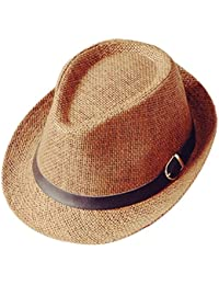 Westeng Sombrero de Paja Anti-sol Sombrero de jazz Anti-UV amantes del sombrero de paja Para las nuevas maneras de la moda del verano,1Pcs
