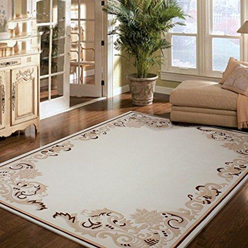 Nordic Wool (ZY Nordic modern Wool Teppich/pauschale für wohn- und teetisch/am krankenbett teppiche für Schlafzimmer-A 63x91inch(160x230cm))
