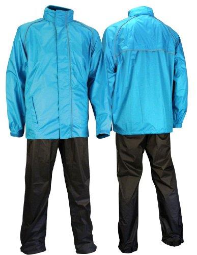 Ralka Komfort für Erwachsene Regenanzug, Blau Anthrazit, XL