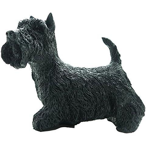 Decorativa, Statuetta decorativa a forma di cane Scottish Terrier (Nero)