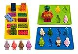 Die besten Freunde Legos - Eiswürfelbehälter und Pralinenformen Silikon 3-Teiliges Set, Süßigkeiten Formen Bewertungen