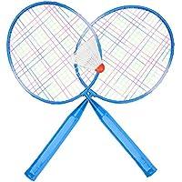 Alomejor Juego de Raquetas de bádminton Resistentes, de aleación de Nailon, para Entrenamiento, práctica de bádminton, Accesorios para niños, Azul