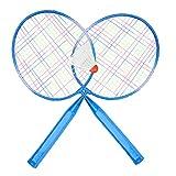 VGEBY1 Racchette da Badminton per Bambini, Racchetta da Badminton con Palla Rotonda, Palla da Badminton, Palla Piuma per Bambini(Blu)