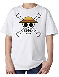 One Piece Straw Hat Pirates Symbol Kids Unisex T Shirt