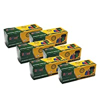 Ezee Bio-degradable Small Garbage Bags/Trash Bags/Dustbin Bags (17 X 19 Inches) Pack of 6 (180 Pieces) 30 Pcs Each Pack