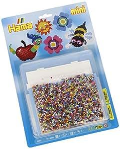 Hama - 5601 - Loisirs Créatifs - Blister 5000 Perles à Repasser + 1 Plaque - Taille Mini - Nature