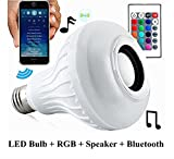 2Pack Smart Bluetooth RGB Glühbirne LED Bulb mit Ferngesteuerte Dimmbare Multi Color drahtlose Fernbedienung Lampe mit Lautsprecher E27 Wireless Musik Lampe for Home,Party Dekoration