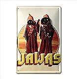 Star Wars - Jawas Bleschilder Retro - Blechschild Vintage Film - 20x30 - Lizenziertes Originaldesign - LOGOSHIRT