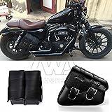 Paar Motorrad PU-Leder links rechts Satteltasche Satteltasche Gepäcktasche passend für Harley