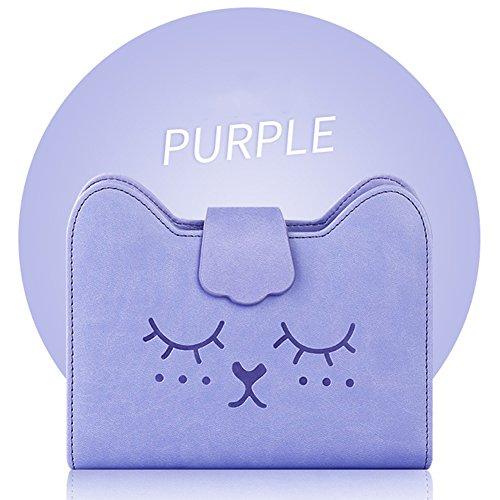 Zantec Creative Meow page Dessin animé ordinateur portable rappel à anneaux Planner Calendrier dates Agenda livre Vague purple imprint