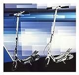 Pedaler Step Scooter Roller max.100kg Schwarz oder weiss (Schwarz)