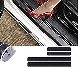Pegatina protectora para umbral de puerta de coche de fibra de carbono 4D, protección de parachoques, calcomanía antiarañazos con fuerte adhesivo para coche, SUV, camioneta, Sedán (4 unidades)