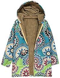 Beladla Abrigos Mujer Invierno Elegantes Impreso MáS Grueso Chaqueta Jersey Mujeres Talla Grande Suelto Hoodie Sudadera