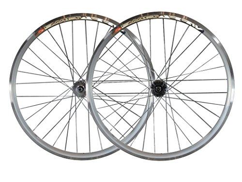 Ruote per bici a scatto fisso, fixie, single speed da 30 mm, con mozzi flip flop da pista Joytech, JOYTECH Flip Flop, Silver, 28' 700C 622