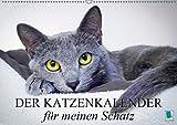 Der Katzenkalender für meinen Schatz (Wandkalender 2019 DIN A2 quer): Besinnliche und heitere Lebensweisheiten für Katzenliebhaber (Monatskalender, 14 Seiten ) (CALVENDO Tiere)