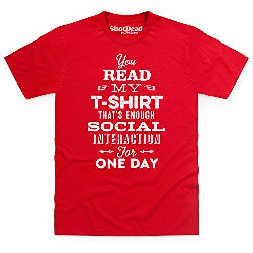 Social Interaction T-Shirt, Herren Rot
