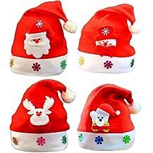 BESTOYARD Sombreros de Navidad en Forma de Muñeco de Nieve Elk Oso Gorro de Navidad  Gorro 233719b993f