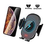 Le Chargeur Chargeur De Voiture sans Fil Rapide pour Voiture Fonctionne avec iPhone X XS Max XR 8 Plus, Samsung S8 S9 Plus, S7 S6 Edge Plus, Note 9 Note 8 Note 5 etc. Dispositif