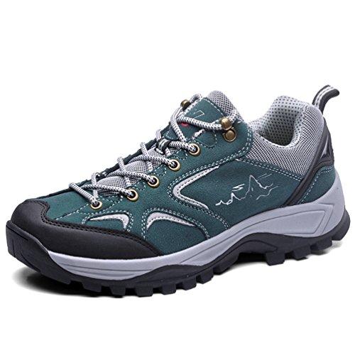 Scarpe Da Trekking In Pelle Traspirante Per Uomo Inverno Sneakers Verde 43 EU Tacco Piatto