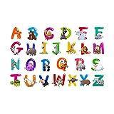 STOBOK 26 adesivi lettere inglesi adesivi alfabeto abc adesivi collage adesivi murali animali in pvc per camerette