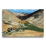 Calvendo Premium Lienzo 75 cm x 50 cm Horizontal, Stausee Embalse de Las Peñitas, Imagen sobre Lienzo, Lienzo Impreso en Lugares