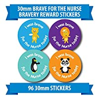 "96 30mm ""BRAVE FOR THE NURSE"" animal bravery reward stickers penguin panda lion"