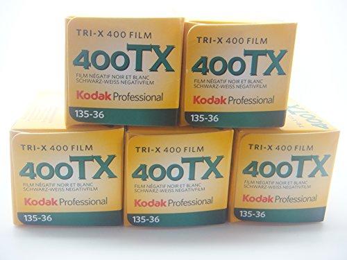 Kodak Professional Tri-X 400ASA 35mm Black and White Print Film 135-36 Exposure - SUPER VALUE 5 PACK!