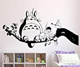 Tatuaggio adesivo da parete Il Mio Vicino Totoro, Vinile, nero, Small