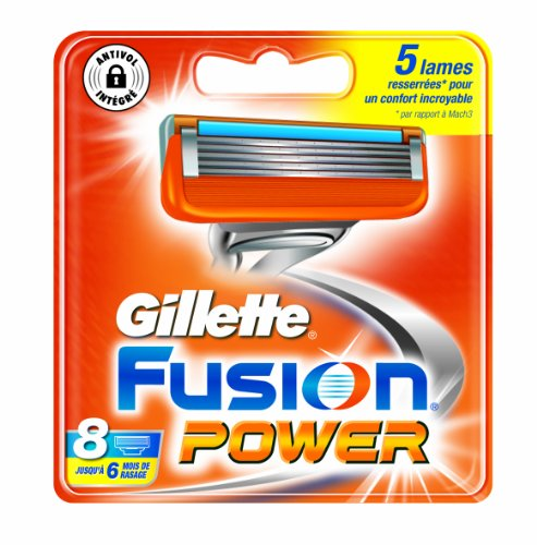 Auslaufmodell Gillette Fusion Power Rasierklingen, dermatologisch getestet, 8Stück