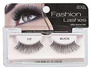 ARDELL Fashion & Accent Eyelashes 100% Human Hair No 117 Black