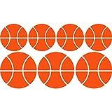 Smart Wild Fancy Sport Set of Basketball Game Balls (35cm x 60cm) wählen Sie Farbe 18Farben auf Lager Badezimmer, Childs Schlafzimmer, Kinder Zimmer Aufkleber, Auto Vinyl-, Windows und Wandtattoo, Wall Windows Art, Decals, Ornament Vinyl Sticker ThatVinylPlace Orange