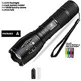 RAISSER® Led flashlight Ultra Bright torch T6/L2/V6 Camping light 5 switch Modes 10000