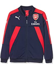 Puma AFC Stadium Jacket with Sponsor Logo Chaqueta, primavera/verano, infantil, color peacoat-high risk red, tamaño 8 años (128 cm)