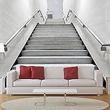 azutura Black & White Treppenhaus Wandbild 3D Foto-Tapete Schlafzimmer Büro Dekor Erhältlich in 8 Größen Riesig Digital