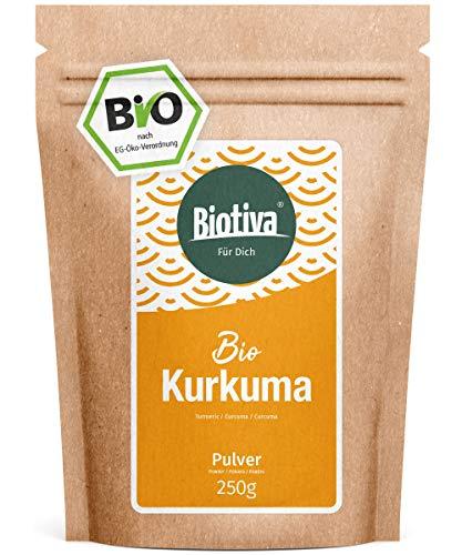 Bio-Kurkuma-Pulver (250g) - hochwertige Kurkumawurzel (Curcuma) gemahlen - Curcumin -...