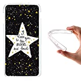 Alcatel OneTouch Idol 3 5.5 Hülle, WoowCase Handyhülle Silikon für [ Alcatel OneTouch Idol 3 5.5 ] Star Satz - I Love You To The Moon And Back Handytasche Handy Cover Case Schutzhülle Flexible TPU - Transparent