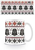 1art1 Star Wars, Darth Vader Xmas Foto-Tasse Kaffeetasse (9x8 cm) Inklusive 1x Überraschungs-Sticker