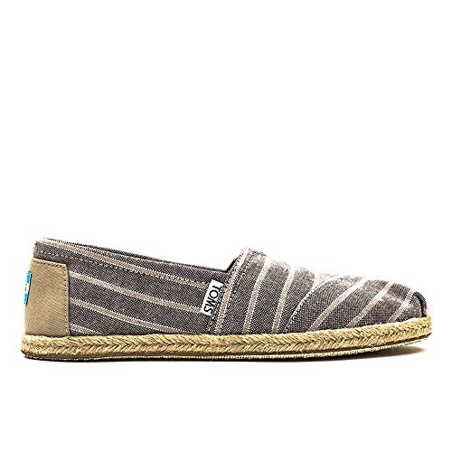 Toms Rope Sole 1019b09r, Espadrilles Donna Marrone