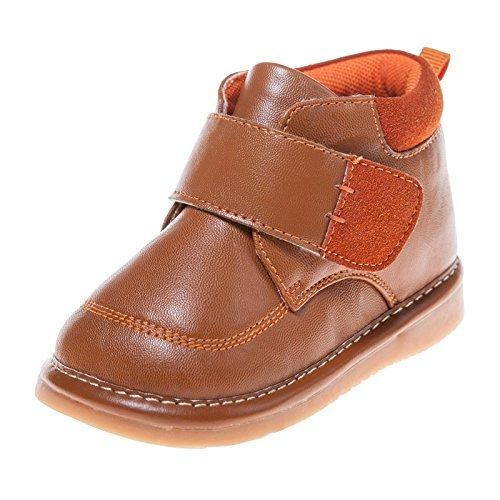 Little Blue Lamb Couine Chaussures Bottes doublé marron clair