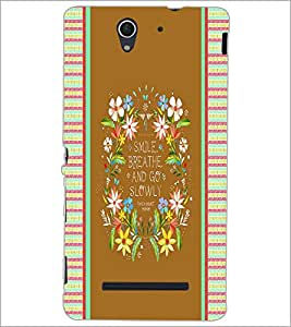 PrintDhaba Quote D-4246 Back Case Cover for SONY XPERIA C3 (Multi-Coloured)