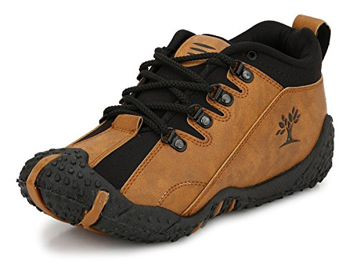 TR Synthetic Leather Casual Shoes For Men (10, tan)
