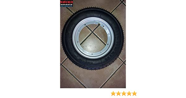 2 MICHELIN TYRE S83 R10 2 TUBES SIZE 3.5 PAIR OF 2 COMPLETE WHEELS MOUNTED FOR THE VESPA PX 125 150 200 WITH 2 RINGS
