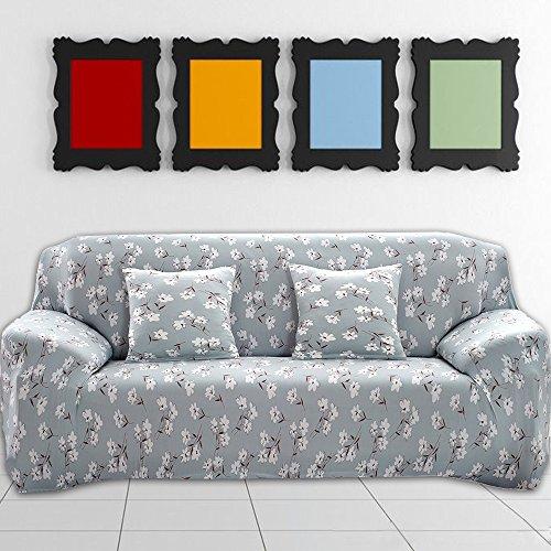 Lovestory_eu copridivano elasticizzato con braccioli senza braccioli universale copertura divano in microfibre jacquard poliesteri spandex stampa fantasia motivo (2 posti, rustico floreale)