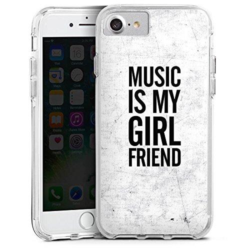 Apple iPhone 6s Bumper Hülle Bumper Case Glitzer Hülle Musik Music Freundin Bumper Case transparent