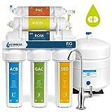 Express Water RODI10D - Sistema de filtración de agua de 6 etapas + osmosis inversa, 100 GPD ROMembrane DI Resina, filtro de intercambio de iones