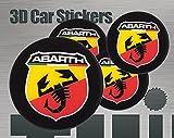 3D Aufkleber Abarth Logo Imitation Alle Größen Mittelkappen Radkappen (60 mm)